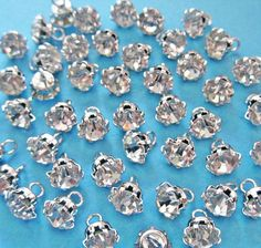 Rhinestone buttons   24 tiny crystal rhinestone by chicbuttons