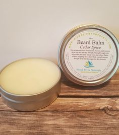 Beard Balm All Natural 2 oz by WoodRiverNaturals on Etsy