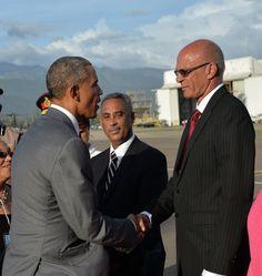 president obama jamaica | President Barack Obama Arrives in Jamaica - Jamaica Information ...