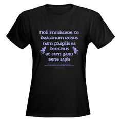 Affairs of Dragons (Latin) Women's Dark T-Shirt