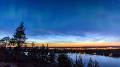 Aurora Borealis and noctilucent clouds Timelapse - YouTube