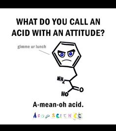 Funny molecular joke...! Credit to ASAP science.                                                                                                                                                                                 More
