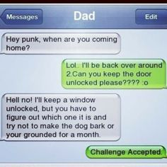 Funny texts Funny Funny messages Really funny Funny text messages Bones fun Funny Shit, Funny Posts, Funny Stuff, Really Funny, The Funny, Funny Dad, Funny Text Conversations, Lol Text, Parenting Done Right