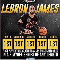 LeBron James stats NBA finals 2016