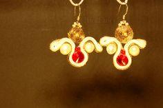 Chandelier Earrings – Soutache earrings ,sterling silver earring loops – a unique product by RickFancy on DaWanda Soutache Earrings, Etsy Earrings, Dangle Earrings, Chandelier Earrings, Sterling Silver Earrings, Dangles, Swarovski, Handmade, Jewelry