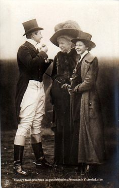 August Wilhelm, Augusta Viktoria, and Viktoria Luise