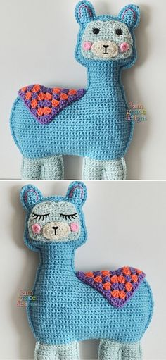 Cute Llama and Alpaca Crochet Patterns.llamas are such lovely and friendly animals. Absolute cuteness overload! This cute amigurumi llama is a 15'' x 9'' doll, that can be your kiddo best friend! What's more, the pattern includes directions for both open eyes with lashes and sleepy eyes. It's your choice which option you'll go for. #freecrochetpattern #amigurumi #llama