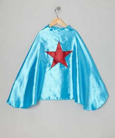 Look at this #zulilyfind! Ocean Blue & Red Star Cape by SuperflyKids #zulilyfinds