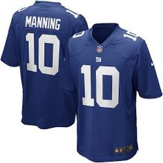 NFL Youth Game Nike New York Giants http://#10 Eli Manning Team Color Blue Jersey