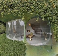 🤯 bubble house designed by Maison Earthship, Earthship Home, Earthship Design, Organic Architecture, Amazing Architecture, Architecture Design, Futuristic Architecture, Residential Architecture, Contemporary Architecture