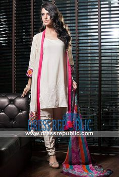 Kalyan Embroidered Printed Shalwar Kameez Suits  For Eid al Adha 2014 by ZS Textiles. by www.dressrepublic.com