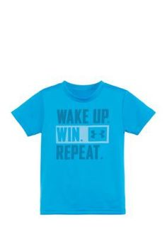 Under Armour Blue Wake Up Win Repeat Short Sleeve Tee Boys 4-7