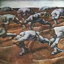 Albin Egger-Lienz, Den Namenlosen (Those Who Have Lost Their Names), 1914 World War One, First World, General Motors, Ww1 Art, New Objectivity, Art Moderne, Grafik Design, Les Oeuvres, Painting & Drawing