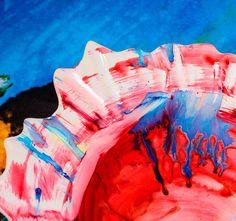 malowaliśmy talerzokwiaty - taki art nam wyszedł:-)