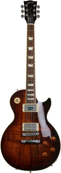 Gibson Les Paul Solidbody Electric Guitar with Mahogany Body, Figured Koa Top, Burstbucker Pro Pickups with Coil Taps