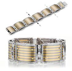 Bretterbauer Juweliere - Armband mit bewegliche Diamanten - The Golden Stripes Stripes, Belt, Diamond, Accessories, Wristlets, Schmuck, Belts, Diamonds, Jewelry Accessories