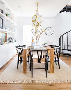 dining room with Big Sur table
