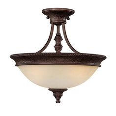 Capital Lighting 3563 Hill House 2 Light Semi-Flush Ceiling Fixture Burnished Bronze Indoor Lighting Ceiling Fixtures Semi-Flush