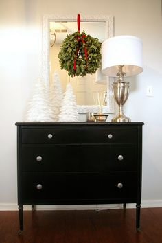 entry way table christmas decor by brynalexandra