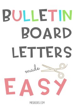 Bulletin Board Letters Made Easy. Using powerpoint and favorite fonts to make the most of your bulletin boards and other classroom displays this school year. (Tech Projects Tips And Tricks) Bulletin Board Letters, Back To School Bulletin Boards, Preschool Bulletin Boards, Bulletin Board Display, Classroom Bulletin Boards, Classroom Decor, Bullentin Boards, Future Classroom, Classroom Design