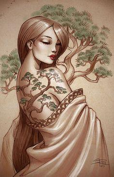 Bonsai tattoo by Sabinerich.deviantart.com on @deviantART