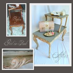 One Girl In Pink: A Change of Heart... About Tiered End Tables