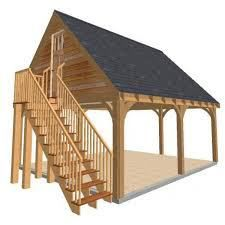 carport with steps to seond floor