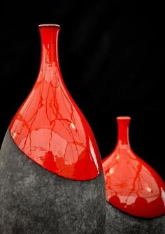 23 Home Accessories That Will Make Your Home Look Cool vase glassart glass decanter 595952963172385056 Raku Pottery, Keramik Design, Sculptures Céramiques, Pottery Designs, Pottery Ideas, Pottery Painting, Bottle Art, Ceramic Vase, Clay Art