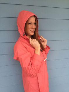 Charles River Apparel Women's New Englander Wind & Waterproof Rain Jacket Rain Cape, Hooded Cloak, Waterproof Rain Jacket, Charles River, Yellow Raincoat, Rain Wear, Windbreaker Jacket, Talbots, Pink