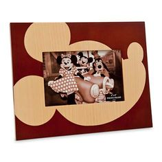 Your WDW Store - Disney Picture Frame - Mickey Mouse Wood - 4'' x 6''
