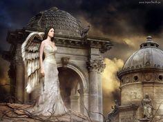 Kobieta, Anioł, Miasto