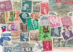 Vintage #WorldPostage Stamps Scrapbooking by gracealleytreasures, $2.25