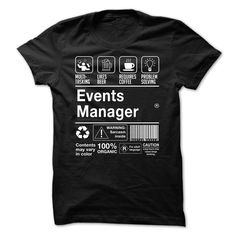 Awesome Events Manager Shirt.-jnropyrjsq T SHIRT