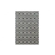 Messina-viskoosimatto, 160 x 230 cm, musta-valkoinen