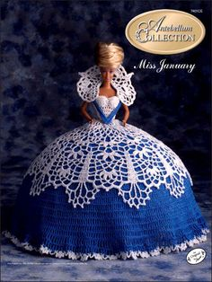 Crochet - Doll Patterns - Bed Doll Patterns - The Antebellum Collection Miss January 1991