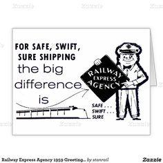 Railway Express Agency 1959 Greeting Card; www.railphotoexpress.biz