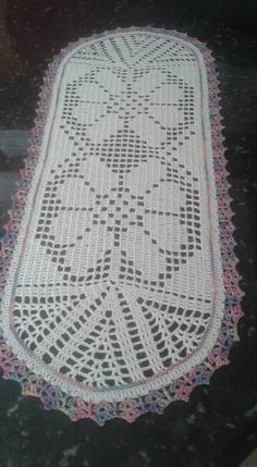 Crochet Patterns Filet, Beading Patterns Free, Free Pattern, Crochet Placemats, Crochet Table Runner, Crochet Carpet, Square Patterns, Table Runners, Free Crochet