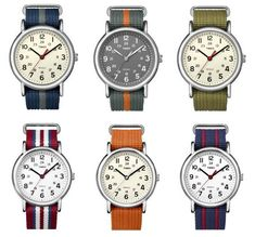 timex weekender watches with happy straps (affordable!)