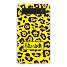 Fashion Leopard Pattern with Name Power Bank - trendy gifts cool gift ideas customize