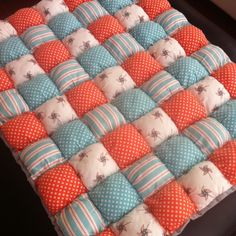 puffy quilts   Flannel puff quilt