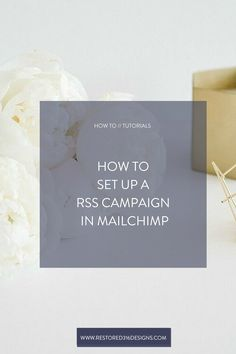 One of the best ways to se up a RSS Campaign is in Mailchimp. Follow this tutorial from Restored 316 on How to Set up a RSS Campaign in Mailchimp!