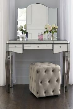 Buy Juliette Pewter Dressing Table From The Next UK Online Shop