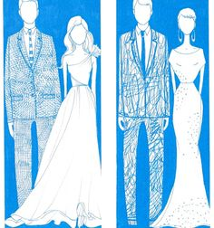 blue for you wedding etsy illustration (herd and twig)