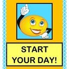 """THREE ACTIVE SONGS with MOVEMENT, RHYTHM, AND RHYME!  Have fun and get moving with """"START YOUR DAY!"""", """"I'M SO GLAD"""", and """"WHAT IS THE WEATHER TODAY?""""  Four Action Posters and Five Weather Posters are included.  Learn NINE  SIGHT WORDS as you give your Circle Time an ACTIVE start.  Enjoy some easy SONGS that give your mornings the right 'vibe'!  (16 pages)  From Joyful Noises Express TpT!  $"""
