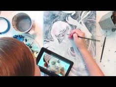 Kelly McKernan's Process and Technique in Watercolor