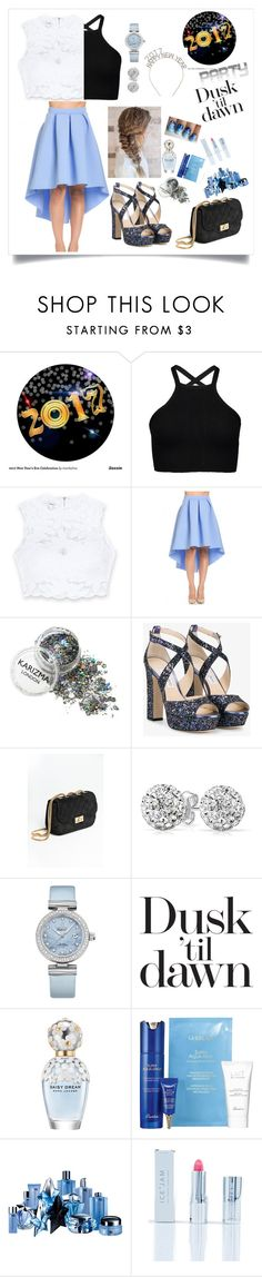 """""""2017"""" by jillbean1 ❤ liked on Polyvore featuring Bebe, Jimmy Choo, Bling Jewelry, OMEGA, Marc Jacobs, Guerlain, Thierry Mugler, Ice + Jam and happynewyear"""