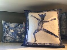 Felt Pillows; Highland Felting Studio:    These soft, cozy, and incredibly creative pillows are calling your name! Pick out your very own Highland Felting Studio pillow today!