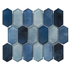 Shop our wide selection of glass tile, glass tile for backsplash and blue shower tile at Floor & Decor. Blue Glass Tile, Blue Tiles, Glass Mosaic Tiles, Tile Mosaics, Mosaic Wall, Navy Blue Bathrooms, Silver Bathroom, Master Bathroom, Navy Blue Bathroom Decor