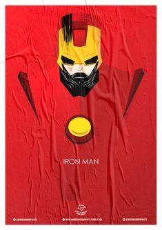 Wiskow • Amor Bandido • Pôster Série Super-Heróis Barbudos #ironman #hq #quadrinhos #design #posters