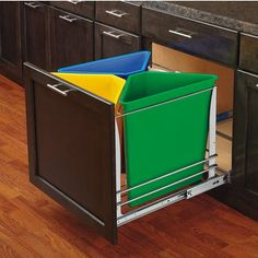Another possibility for organizing indoor trash and recycling. Need to look into DIY version.